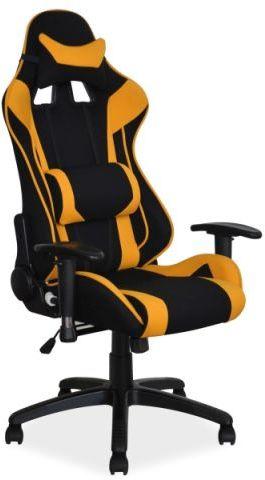 Fotel VIPER czarny/żółty gamingowy z poduszkami pod kark i plecy  KUP TERAZ - OTRZYMAJ RABAT