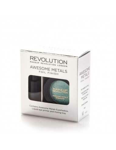 Makeup Revolution Awesome Metals Eye Foils cień do powiek Emerald Goddess
