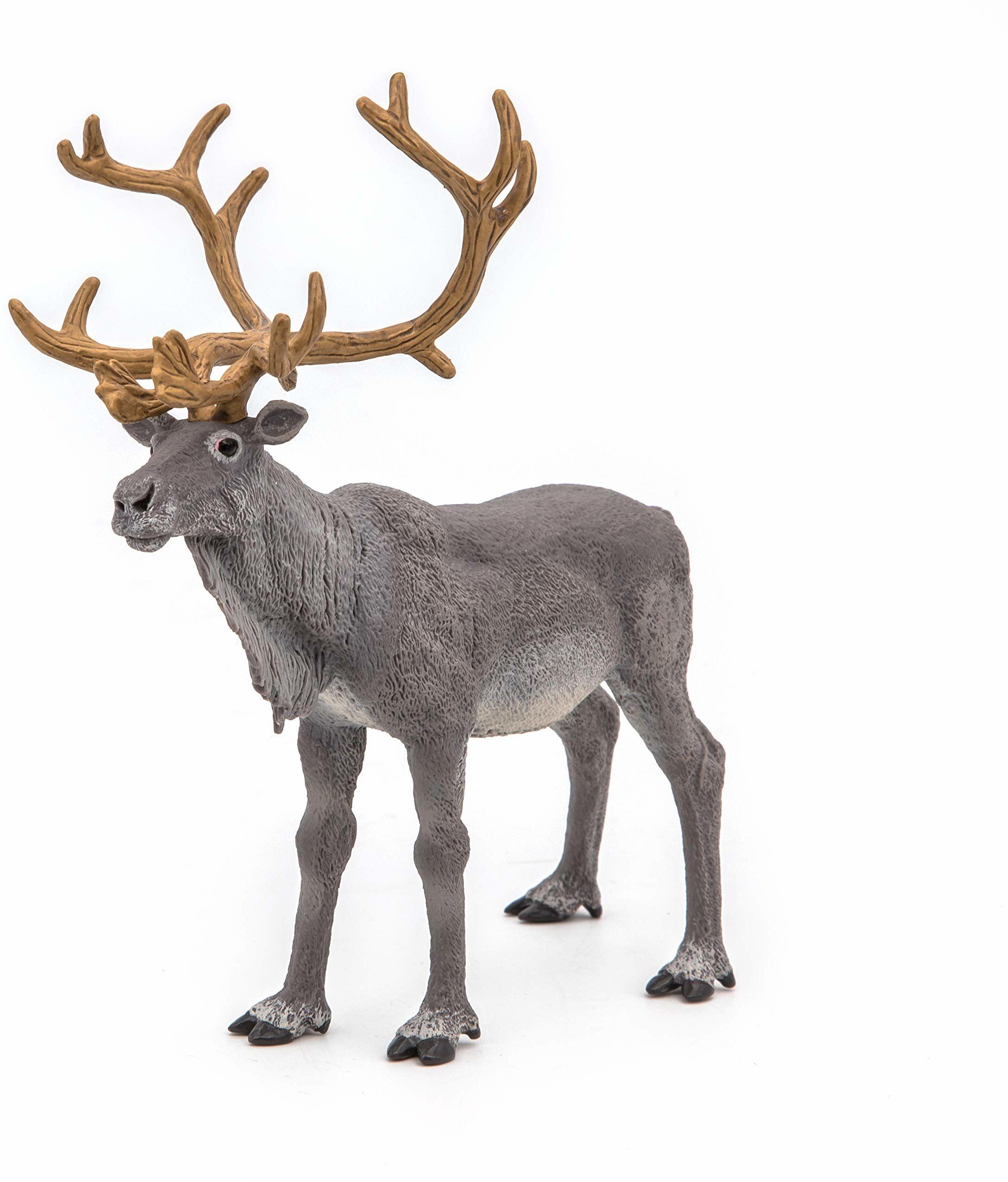 Papo 50117 Renifer Wild Animal Figurka Królestwa, Wielokolorowa
