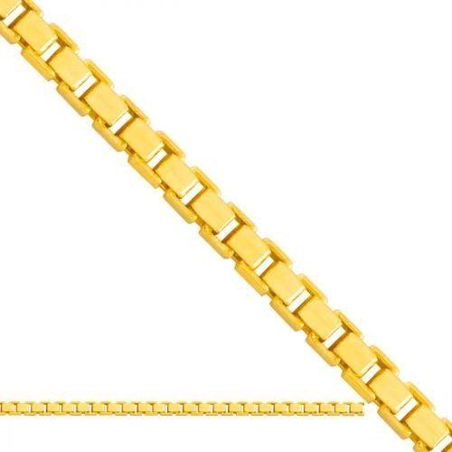 Złoty łańcuszek Pełny Kostka Lp315