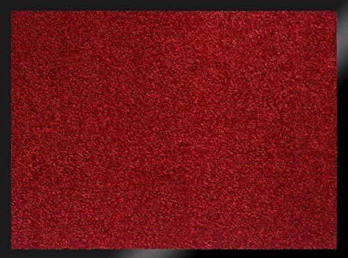 ID Mat te 608005 Mirande wycieraczka włókno nylonowe/guma PCW 80 x 60 cm), czerwona, 60 x 80 cm