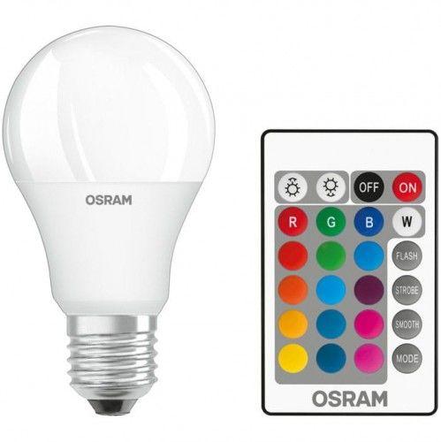 Żarówka LED Osram E27 RGBW biała ciepła 9W + pilot