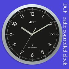Zegar srebrny sterowany radiowo #2
