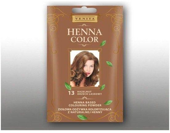 Venita Henna Color ziołowa odżywka koloryzująca z naturalnej henny 13 Orzech Laskowy