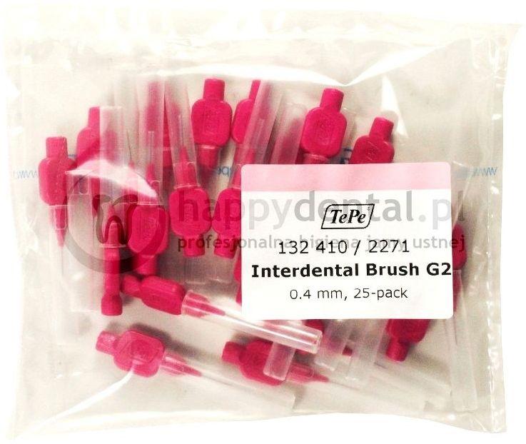 TEPE ID Original (0.40mm) różowe 25szt. - zestaw szczoteczek międzyzębowych (szczoteczki w wersji ORIGINAL)