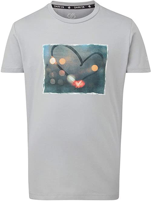 Dare2b Dziecięce DKT426 5QKC07 ''Go Beyond'' drukowane bawełniane koszulki na co dzień/polo/kamizelki, szary szary szary 7-8