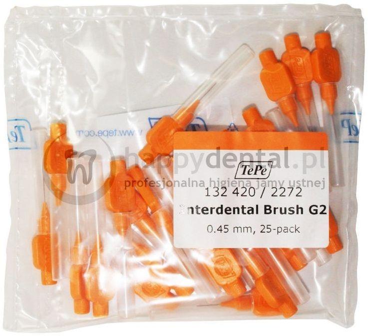 TEPE ID Original (0.45mm) pomarańczowe 25szt. - zestaw szczoteczek międzyzębowych (szczoteczki w wersji ORIGINAL)