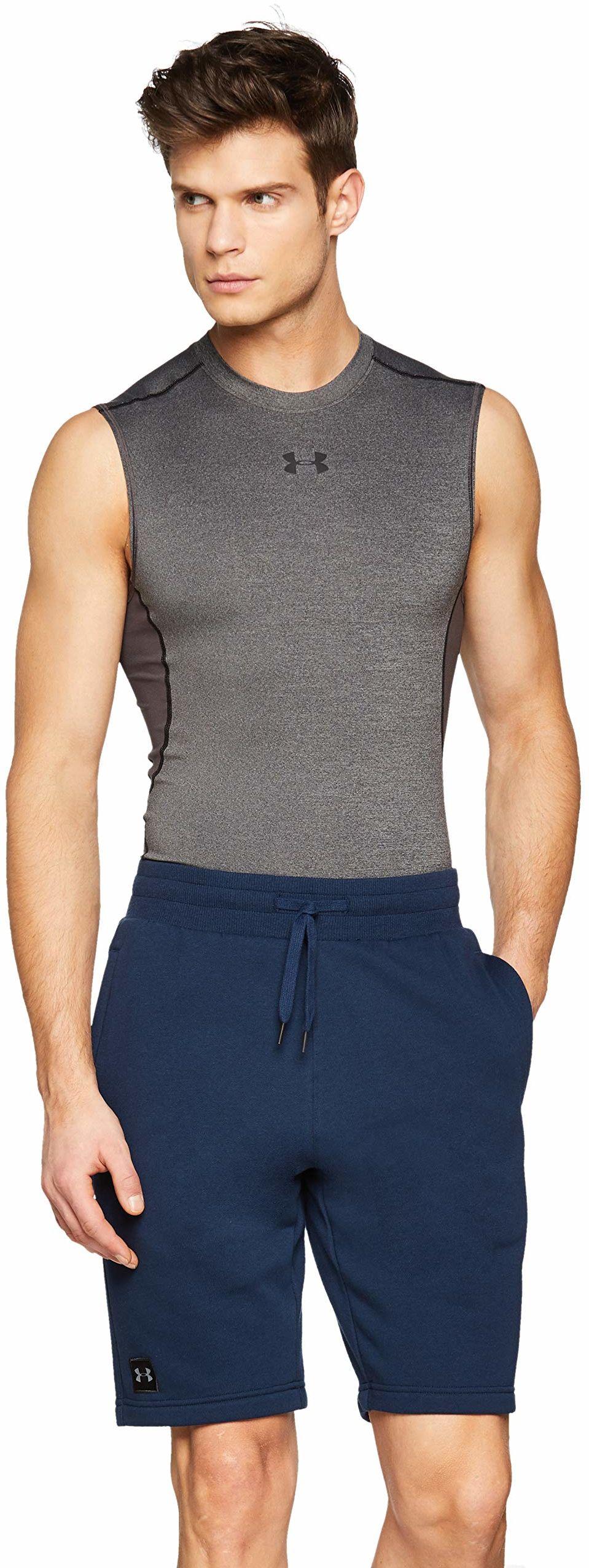 Under Armour Rival męskie spodenki z polaru, spodnie dresowe z kieszeniami i prążkowany pasek, wygodne męskie sportowe szorty Blue (408) 3XL