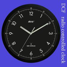 Zegar czarny sterowany radiowo #2