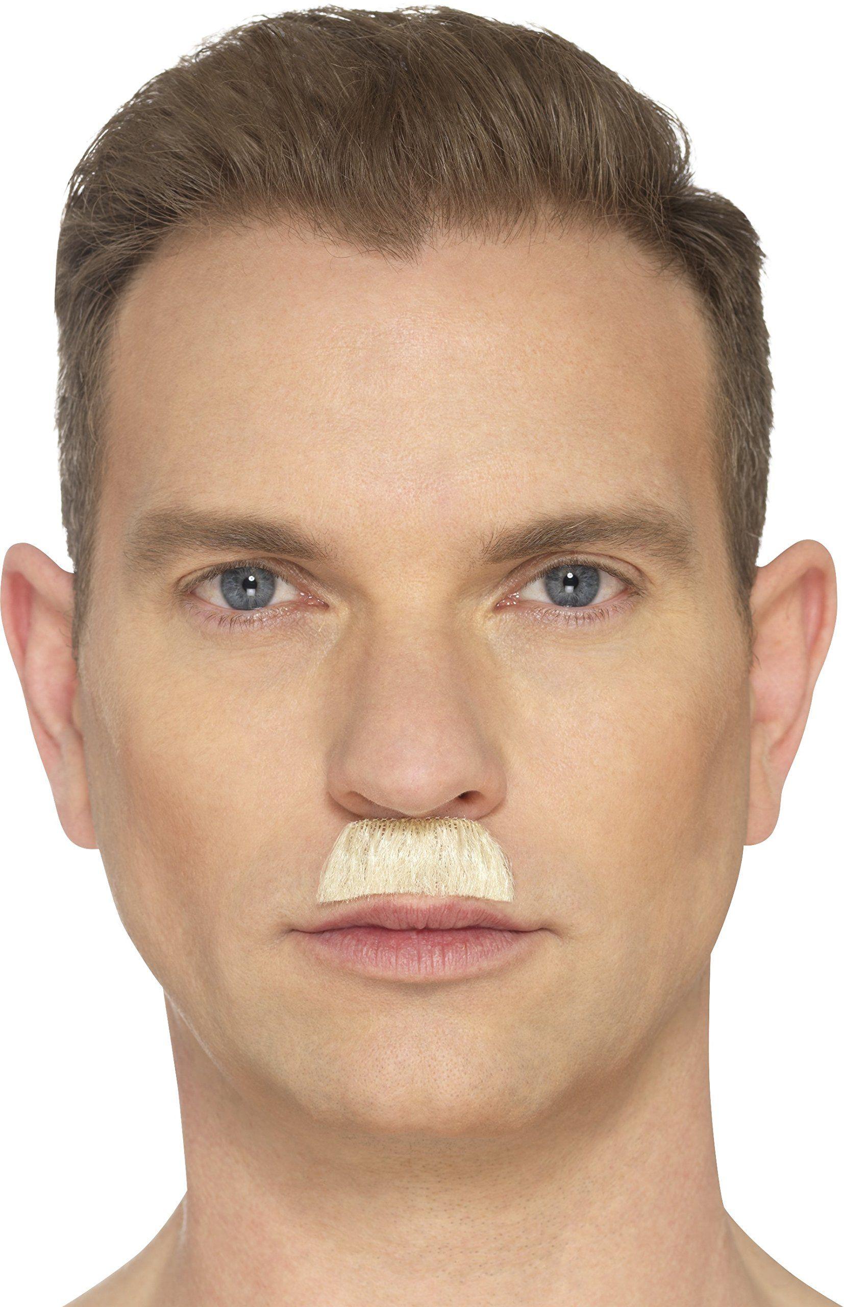 Smiffys 49648 Szczoteczka do zębów wąsy, blond, jeden rozmiar