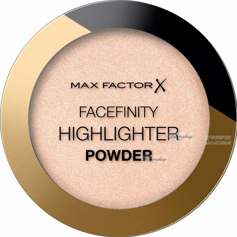 Max Factor - FACEFINITY - HIGHLIGHTER POWDER - Rozświetlacz do twarzy - 8 g - 001 - NUDE BEAM