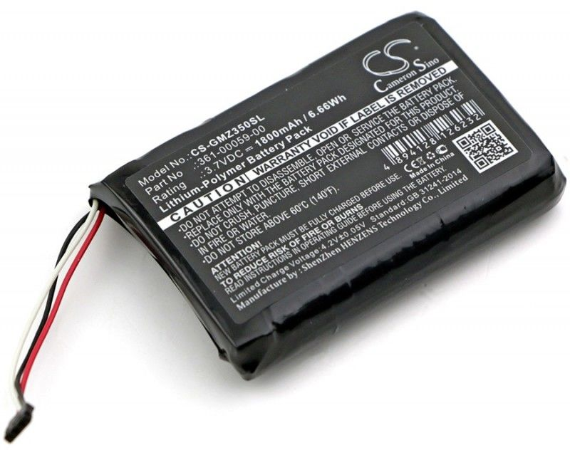 Garmin ZUMO 350LM / 361-00059-00 1800mAh 6.66Wh Li-Polymer 3.7V (Cameron Sino)