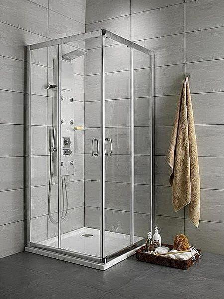Kabina prysznicowa prostokątna Radaway Premium Plus D 80 x 90 szkło przejrzyste wys. 190 cm. 30437-01-01N