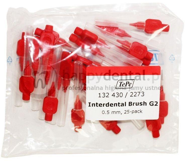 TEPE ID Original (0.50mm) czerwone 25szt. - zestaw szczoteczek międzyzębowych (szczoteczki w wersji ORIGINAL)