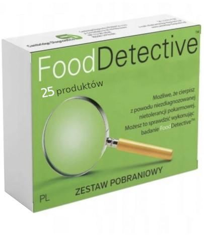 Food Detective Mini badanie nietolerancji pokarmowej 25 produktów zestaw pobraniowy 1 sztuka