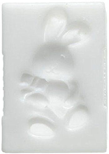 Silikomart silikonowa forma do dekoracji tortu 71.325.00.0096, cukier slk225 zając silikonowa, biała