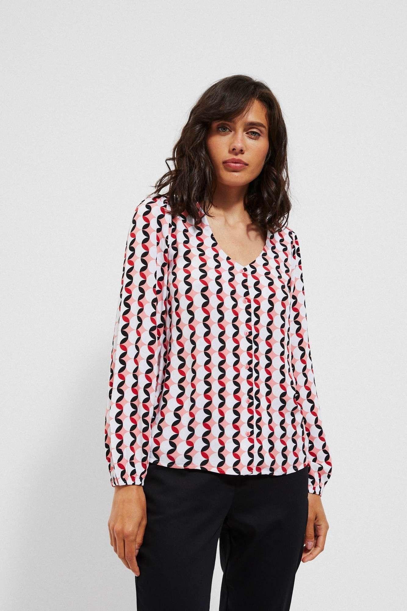 Koszula z wiskozy z nadrukiem