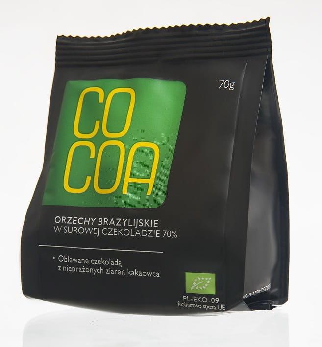 Orzechy brazylijskie w surowej czekoladzie bio 70 g - cocoa