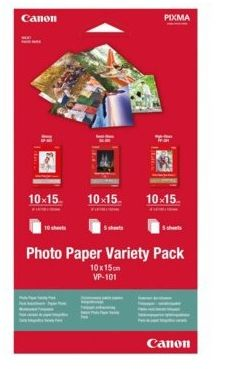 Papier fotograficzny CANON Variety Pack VP-101 - 3x 10x15 (0775B078)