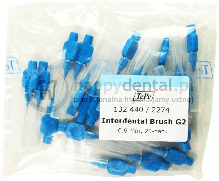 TEPE ID Original (0.60mm) niebieskie 25szt. - zestaw szczoteczek międzyzębowych (szczoteczki w wersji ORIGINAL)