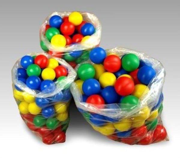 Piłka basenowa 70mm Mix kolorów 100szt MARGOS 590163