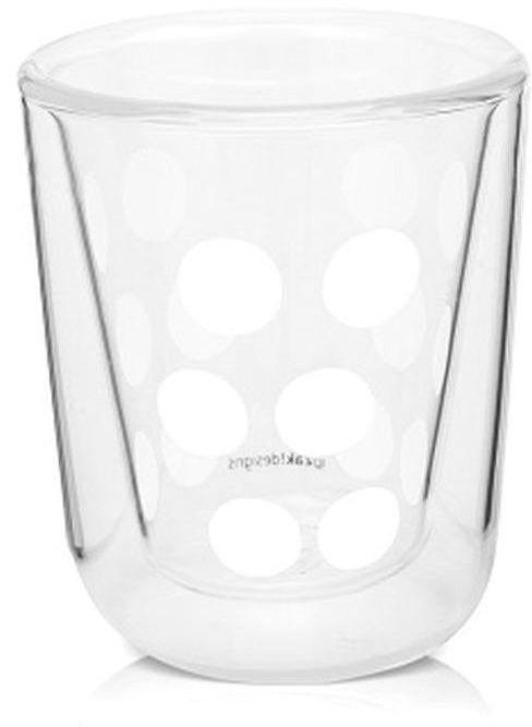 Zak! designs - szklanka 75 ml z podwójnymi ściankami - biała