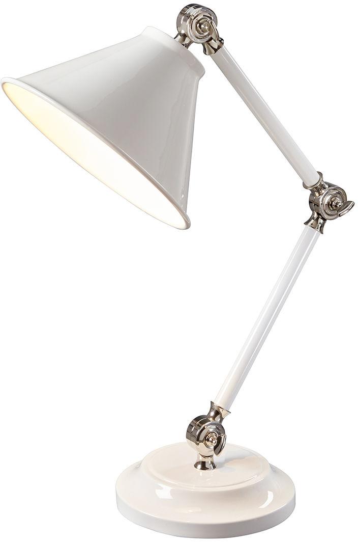 Lampa biurkowa Provence PV ELEMENT WPN Elstead Lighting biała oprawa w klasycznym stylu