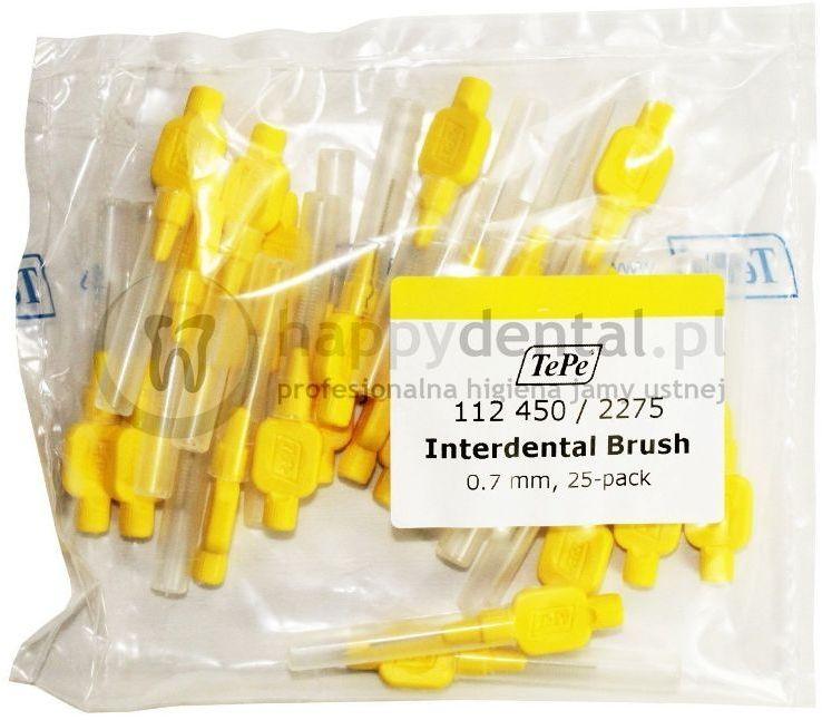 TEPE ID Original (0.70mm) żółte 25szt. - zestaw szczoteczek międzyzębowych (szczoteczki w wersji ORIGINAL)