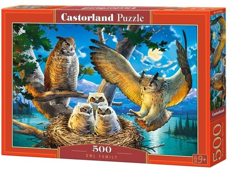 Puzzle 500 Owl Family CASTOR