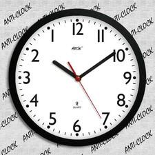 Zegar ścienny rewers z białą tarczą