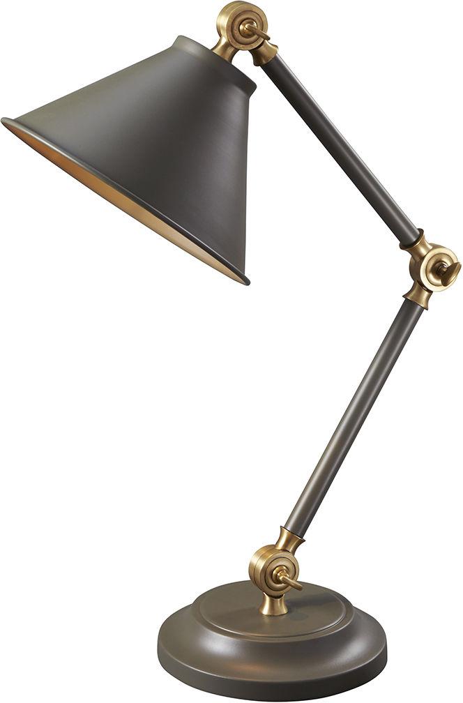 Lampa biurkowa Provence PV ELEMENT GAB Elstead Lighting ciemnoszara oprawa w klasycznym stylu