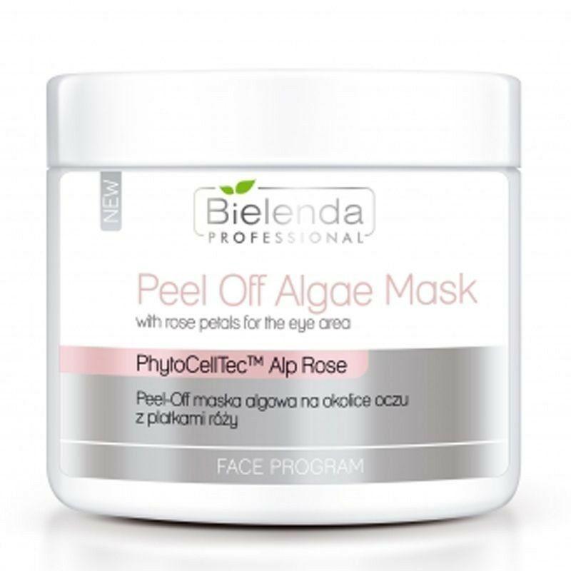 BIELENDA Peel-off maska algowa na okolice oczu z płatkami róży 90g