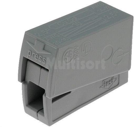 Złączka: szybkozłączka instalacyjna; zacisk sprężynowy; 24A