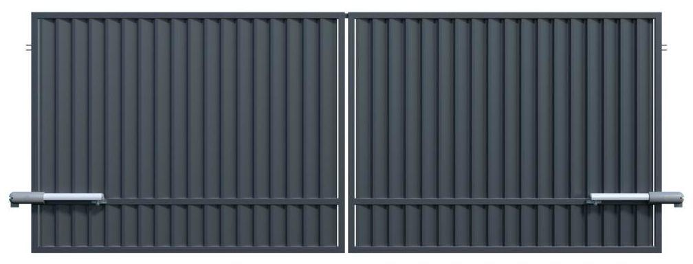 Brama dwuskrzydłowa z automatem TOPAZ 350 x 150 cm POLARGOS