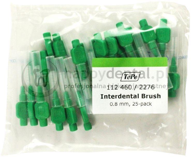 TEPE ID Original (0.80mm) zielone 25szt. - zestaw szczoteczek międzyzębowych (szczoteczki w wersji ORIGINAL)