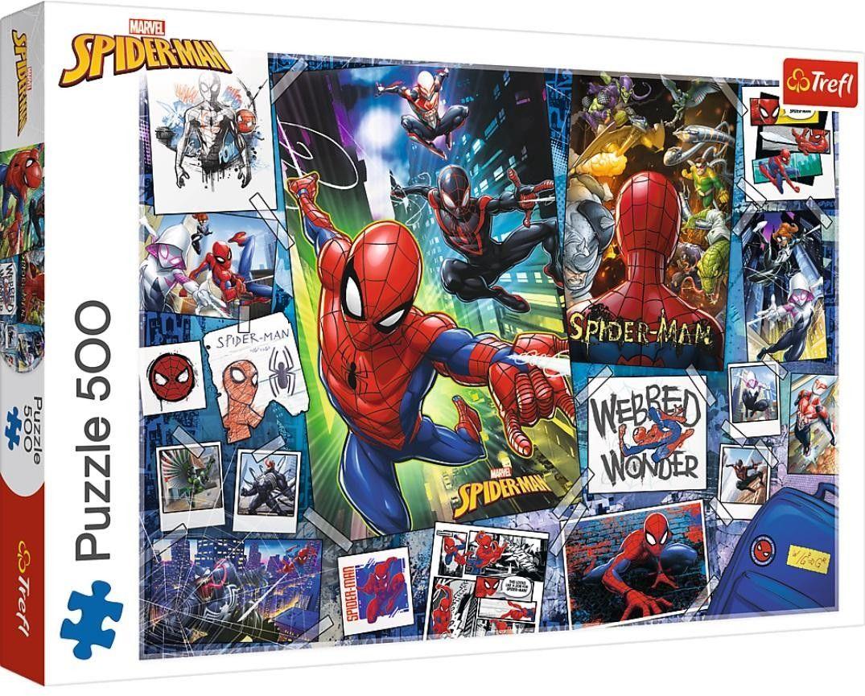 Puzzle TREFL 500 - Plakat z superbohaterem, Superhero poster
