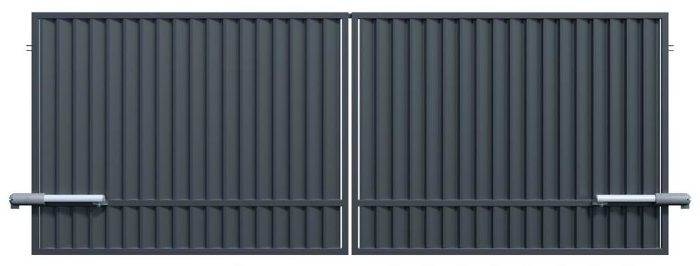 Brama dwuskrzydłowa z automatem 400 x 150 cm POLARGOS