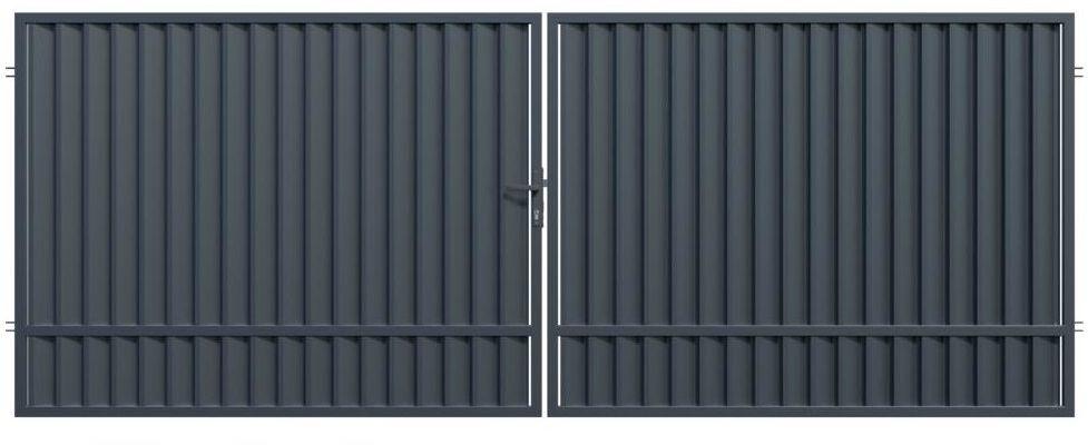 Brama dwuskrzydłowa TOPAZ 300 x 150 cm POLARGOS