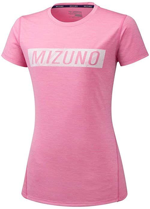 Mizuno Impulse Core Graphic T-shirt damski - różowy, biały różowy Rosa M