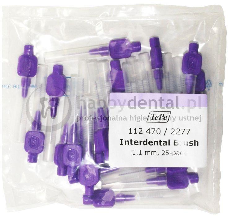 TEPE ID Original (1.10mm) fioletowe 25szt. - zestaw szczoteczek międzyzębowych (szczoteczki w wersji ORIGINAL)