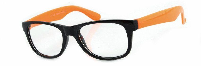 Okulary Nerdy zerówki orange 2071b