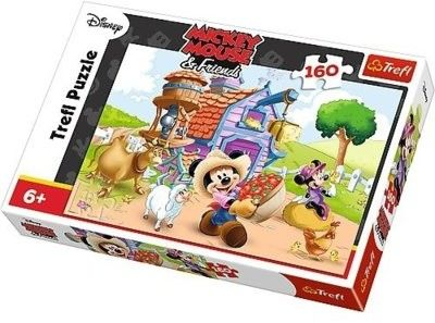 Puzzle 160 Elementów Farmer Myszka Miki Mickey Mouse TREFL