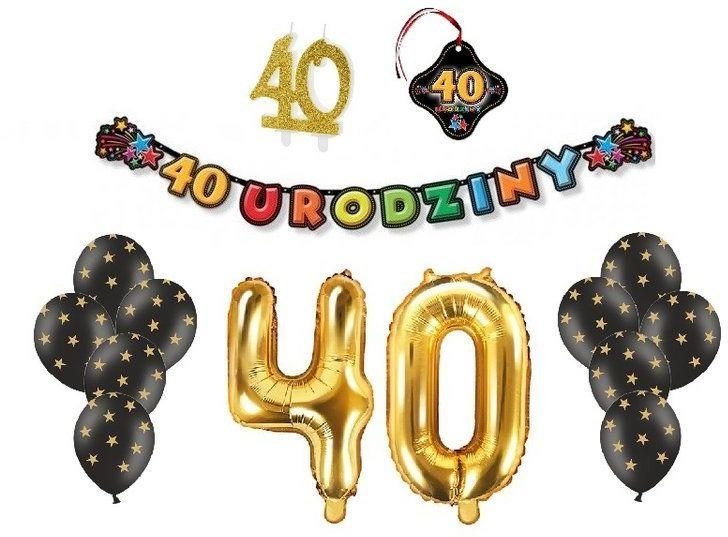 Zestaw dekoracji na 40 Urodziny zes40-5