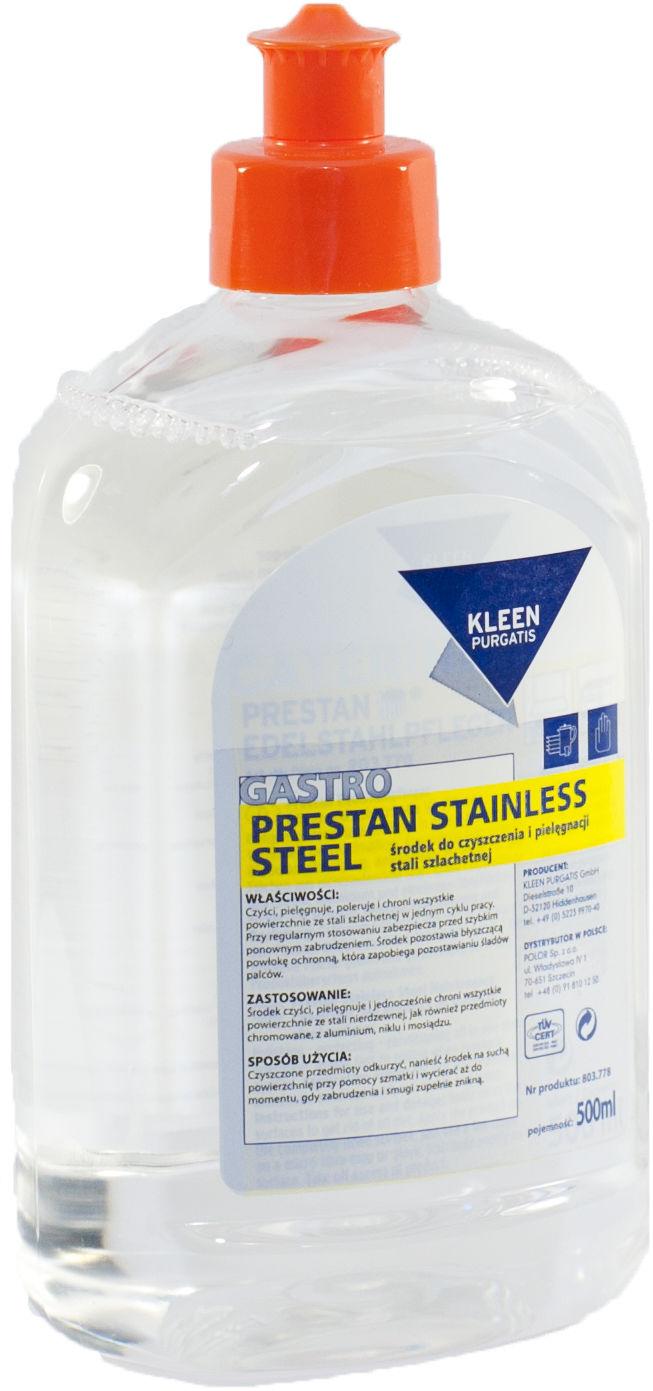 Kleen Prestan Stainless Stel 0,5 L - środek do pielęgnacji i ochrony powierzchni ze stali nierdzewnej