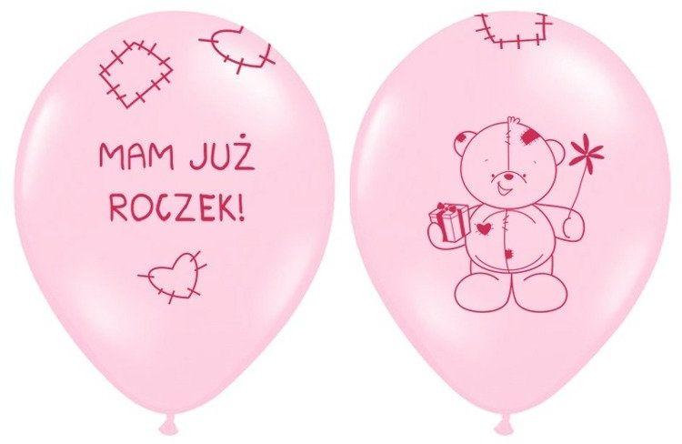 Balony Mam już Roczek różowe 6 sztuk SB14P-221-081J-6