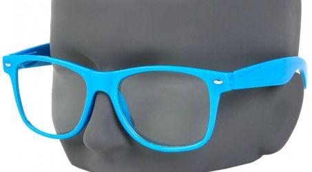 Błękitne okulary nerdy zerówki Damskie i Męskie