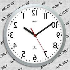 Zegar rewers lustrzany biała tarcza