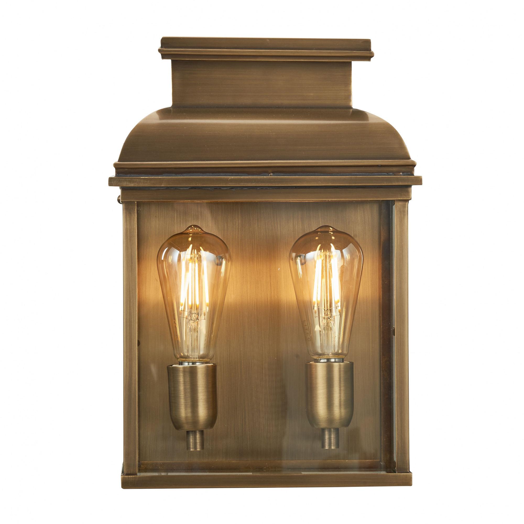 Kinkiet zewnętrzny Old Bailey L BR Elstead Lighting mosiężna oprawa w klasycznym stylu