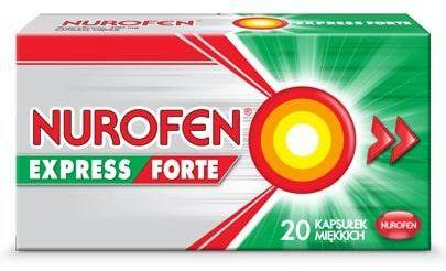 Nurofen Express Forte 400mg 20 kapsułek miękkich