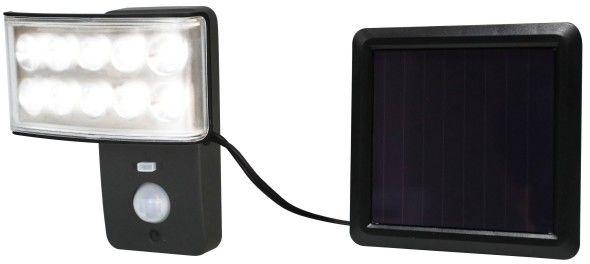 Naświetlacz solarny z czujnikiem ruchu 150 lm 5000 K IP44 czarny